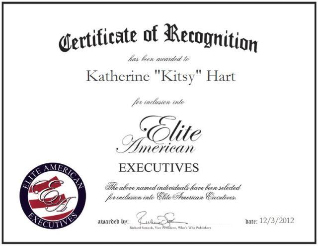 "Katherine ""Kitsy"" Hart, BS, MT, (ASCP)"