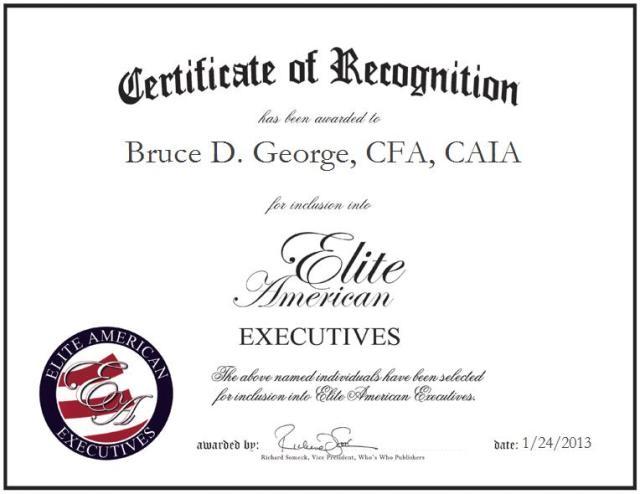 Bruce D. George, CFA, CAIA