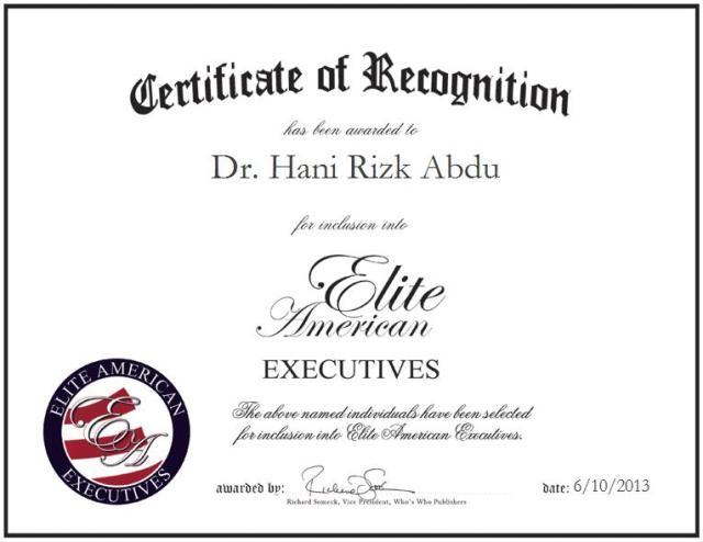 Dr. Hani Rizk Abdu
