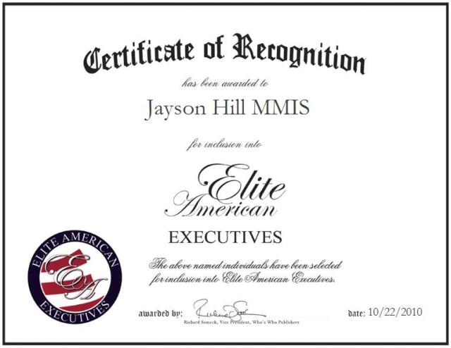 Jayson Hill MMIS