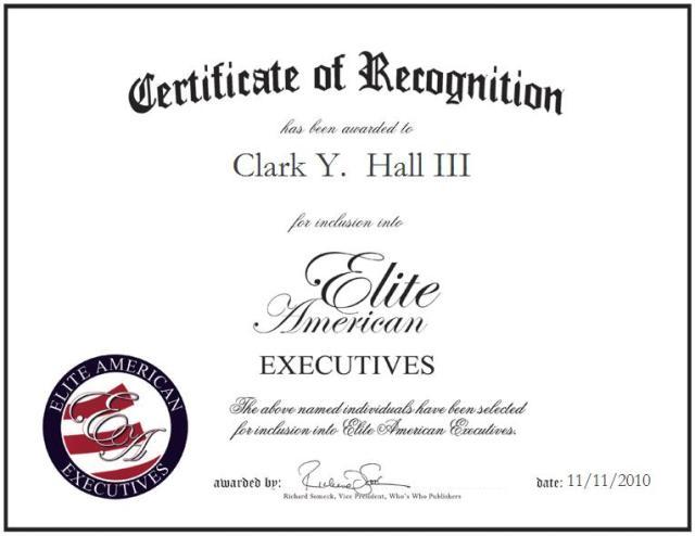 Clark Y.  Hall III