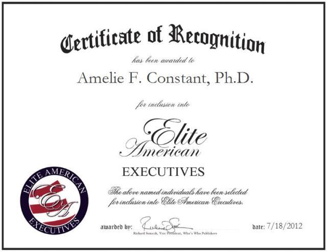 Amelie F. Constant, Ph.D.